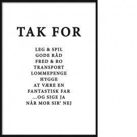 Tak Far Plakat Inkl Personlig Tekst Staerke Citater Tekst Citater Bedsteforaeldre Citater