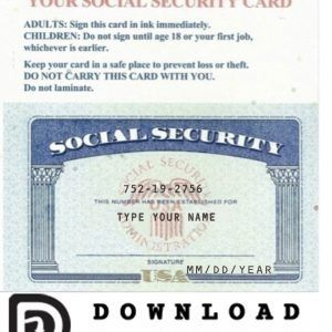 Social Security Card 04 Social Security Card Id Card Template Card Template
