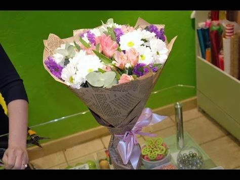 Упаковка цветов для магазина смотреть видео — pic 5