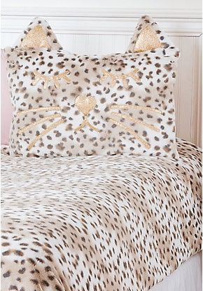 Cheetah Faux Fur Comforter Set Twin Size Comforter Sets Tween Girl Bedroom Cute Bed Sets