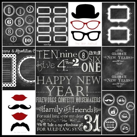 Free New Years Printables over at the36thavenue.com