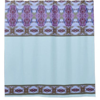 Purple Light Blue And Dark Olive Shower Curtain Pattern Sample