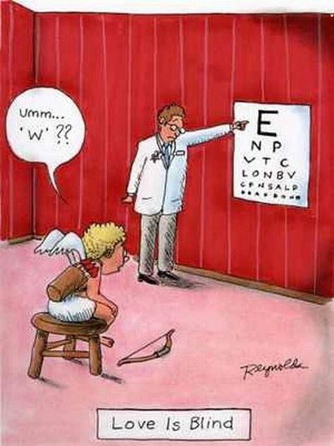 Funny Cartoon: Love is Blind#Funny