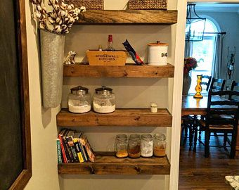 Free Shipping Wood Floating Shelves 10 Inches Deep Etsy In 2020 Wood Floating Shelves Floating Shelves Wood And Metal Shelves