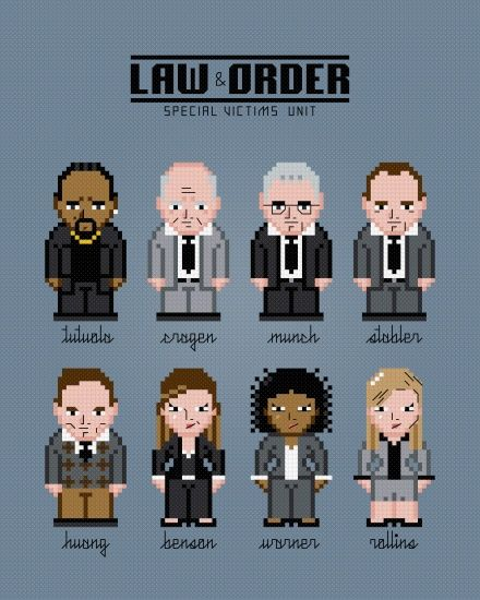 Law Order Special Victims Unit Special Victims Unit Law And Order Special Victims Unit Modern Cross Stitch Patterns