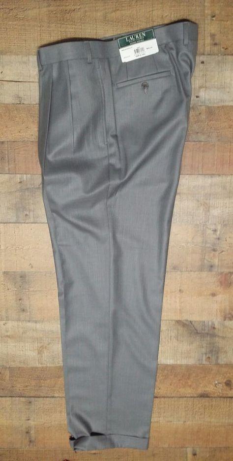d90153c9525 Ralph Lauren Polo Pants size 38 x 32 Gray NWT  90 Business gray Machine  washable  LaurenRalphLauren  DressPleat