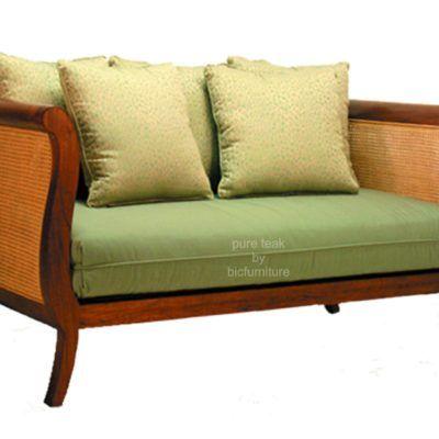 Teak Curved Sofa With Cane Ws 8 Sofa Design Teak Sofa
