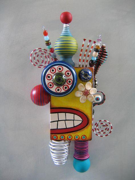 found+objects+art | ... Around, Original Found Object Sculpture, Wall Art, by Fig Jam Studio