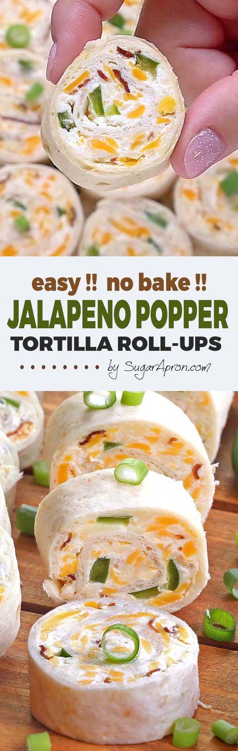 Jalapeno Popper Tortilla Roll Ups - Sugar Apron