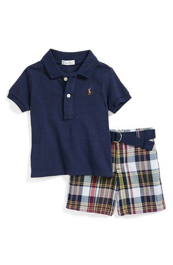 Ralph Lauren Polo & Plaid Shorts (Baby Boys) available at #Nordstrom