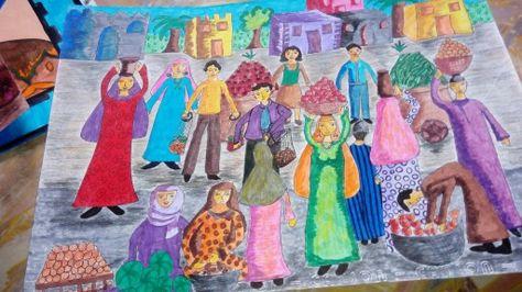 تعبير فني عن السوق Oil Painting Art Painting