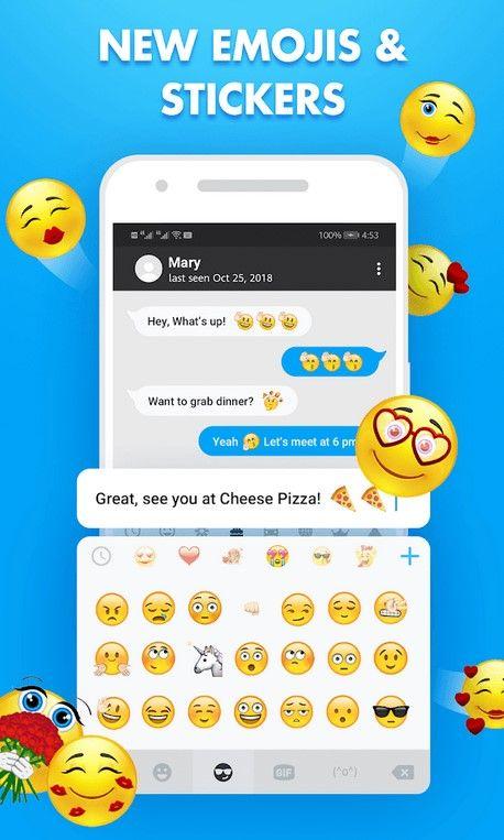 Funtype Emoji Keyboard How To Use Whatsapp Emoji On Android Best Emoji App Iphone Apps Emoji Messages