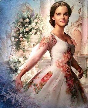 O Vestido Branco Com Flores Usado Por Bela Na Cena Final Foto