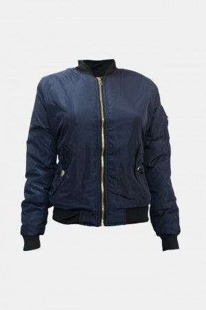 Chaqueta Bomber para Mujer Color Azul Marino. Si quieres ver mas  chamarras  de   83991047e968