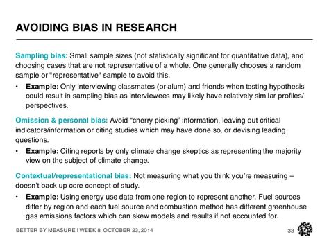 bias qualitative research - Google Search PhD Pinterest - sample research reports