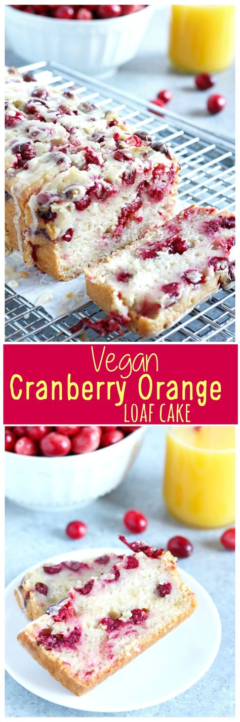 Cake - Luscious cranberry loaf cake drizzled with a sweet orange glaze ...