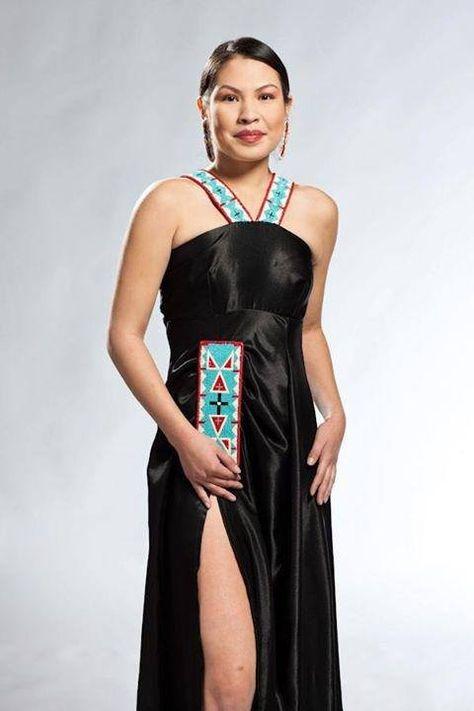 Shopindigenous.ca  Jasmine in another beautiful dress by Chantel Dustyhorn!