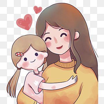 رسم ملون كاريكاتير شخصية رسم رسمت أمي Png وملف Psd للتحميل مجانا Cute Drawings Character Design Mom Characters