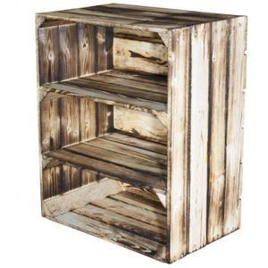 3 x geflammte étagère à chaussures boîte caisse en bois caisse à vin Étagère à caisses