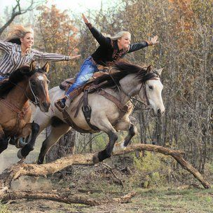 Leah Self Ginger Duke professional trick riders on wild mustangs. i need to do this with my bff. Pretty Horses, Horse Love, Horse Girl, Beautiful Horses, Animals Beautiful, Beautiful Creatures, Cute Animals, Horse Pictures, Horse Photos