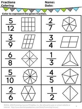 Pin By Sarah Huck On Math Charts In 2020 Fractions Worksheets Math Fractions Worksheets 3rd Grade Math Worksheets