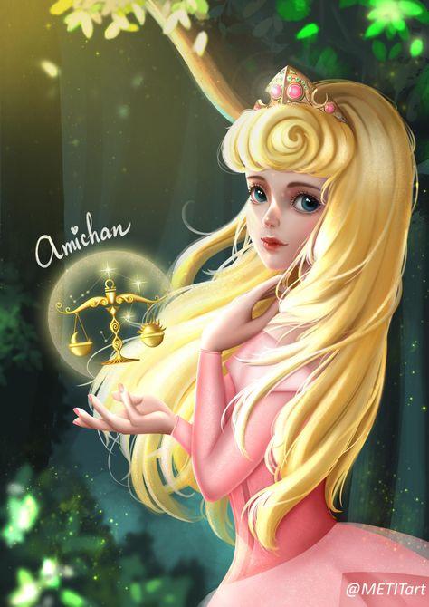 Aurora Princess - Libra - Amichan Art by MetitArt on @DeviantArt