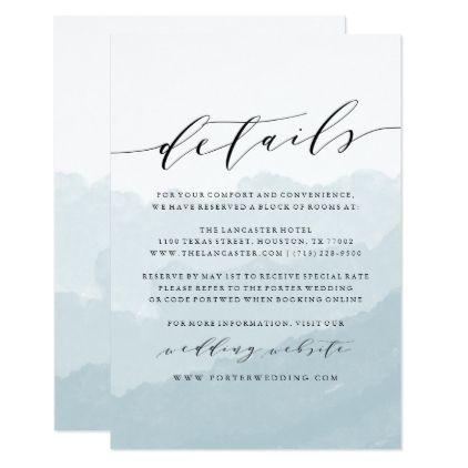 Watercolor Mist Wedding Details Card Zazzle Com Wedding Details Card Wedding Invitations Uk Watercolor Wedding Invitations