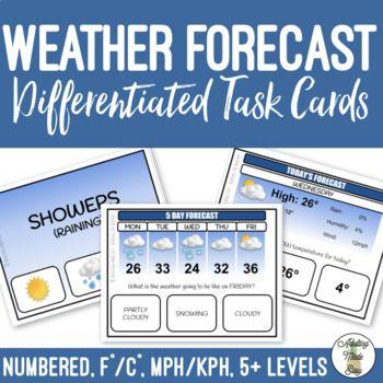 Weather Forecast Task Cards Task Cards Weather Task Cards Life