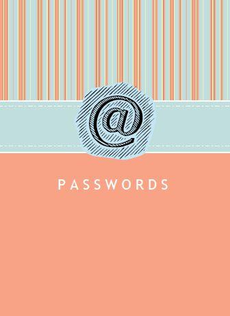 Password Organizer Printable \u2026 Free for You DIY Ideas Pinterest