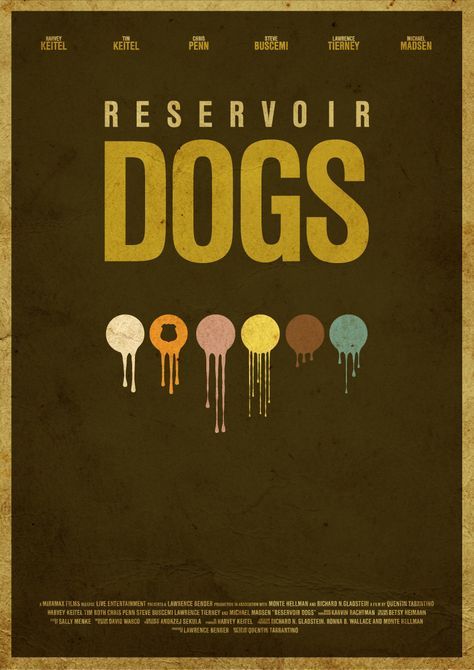 Five alternative and minimal movie poster designs
