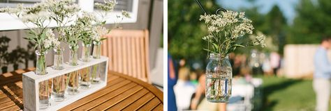 Backyard wedding decor in budget wedding