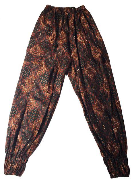 Unisex Jogger Long Pants Relaxed Fit Batik Black Brown