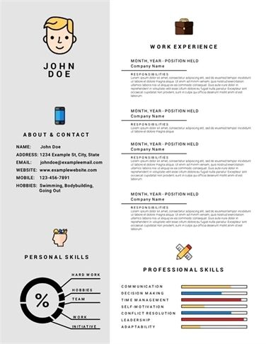 Simple Tips To Help You Get A Job Infographic Resume Template
