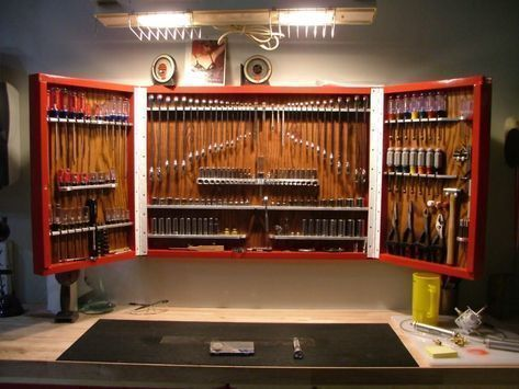 Garagestorageideas Tool Cabinet Werkzeugschrank The Garage Journal Board Garage Dekorieren Werkzeugschrank Garageneinrichtung