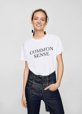 De Y Serigrafia En Tops MujerMango España Camisetas 2018 2019 roQBxdCeW
