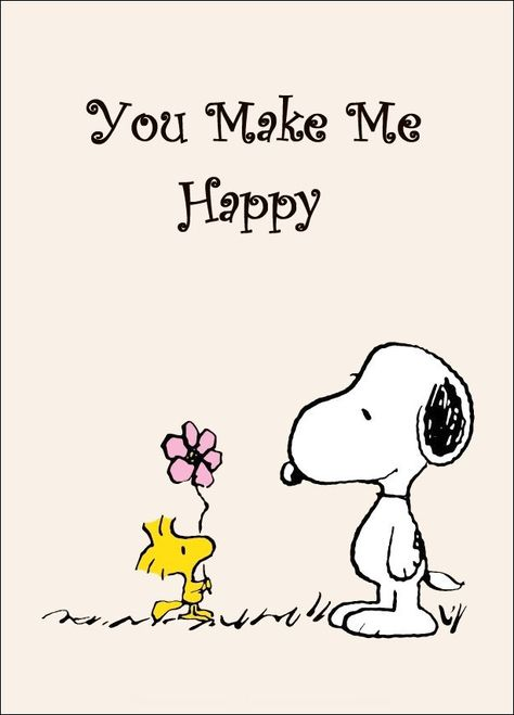 """Snoopy And Woodstock Collectible Peanuts """"You Make Me Happy"""" Stand-Up Display - Other"""