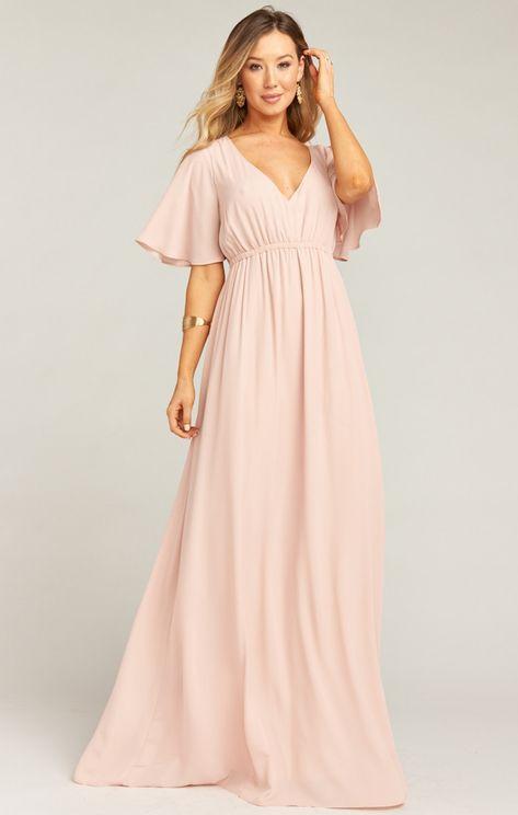 9a235be55d2b Emily Maxi Dress ~ Dusty Blush Crisp | Show Me Your MuMu
