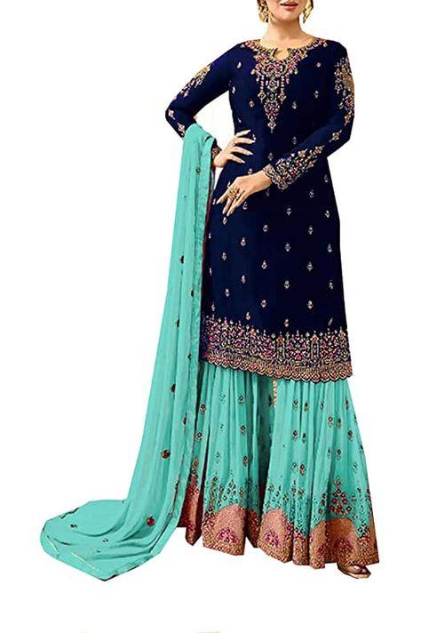 Amazon.com : long frocks indian designer dresses party wear