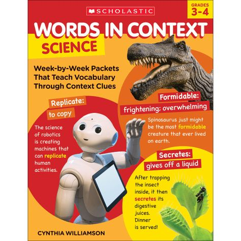 Scholastic Words In Context: Science, Grades 3 - 4