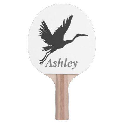 Heron Silhouette Ping Pong Paddle Ping Pong Paddles Ping Pong Ping Pong Table Tennis