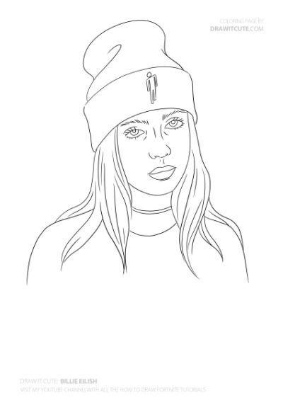 How To Draw Billie Eilish Draw Billie Eilish Billie Drawings