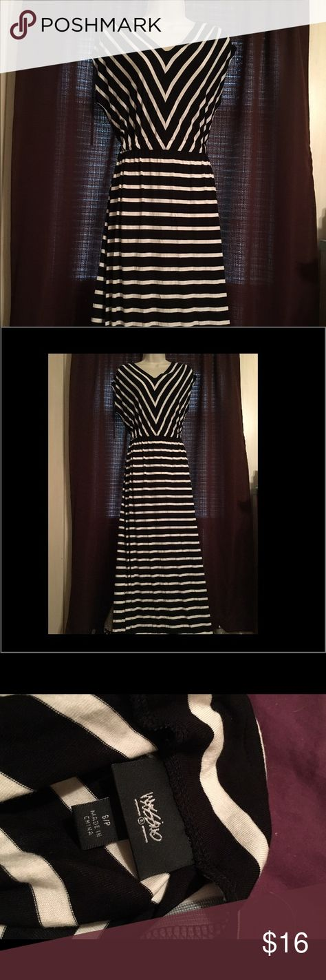 Stripped maxi dress Excellent condition Mossimo Supply Co Dresses Maxi