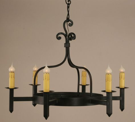 6 Light Mission Wrought Iron Chandelier Wrought Iron Chandeliers