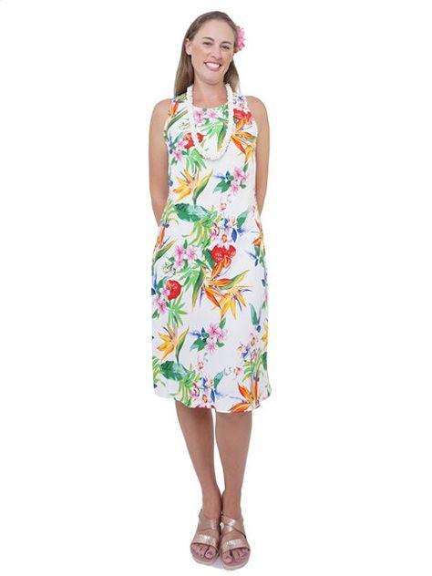 3f261359152cb Ainahau Dark Coral Drop Waist Dress | Hawaiian Dresses & Muumuu in 2019 |  Dresses, Muumuu, Dresses with sleeves