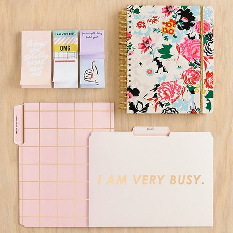 Surround yourself in office supplies that do the talking for you.