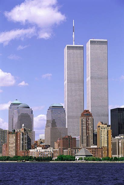 View top-quality stock photos of Twin Towers At World Trade Center. Find premium, high-resolution stock photography at Getty Images. World Trade Towers, World Trade Center Nyc, Trade Centre, Great Buildings And Structures, Amazing Buildings, Modern Buildings, 911 Twin Towers, Dubai Skyscraper, Cleveland