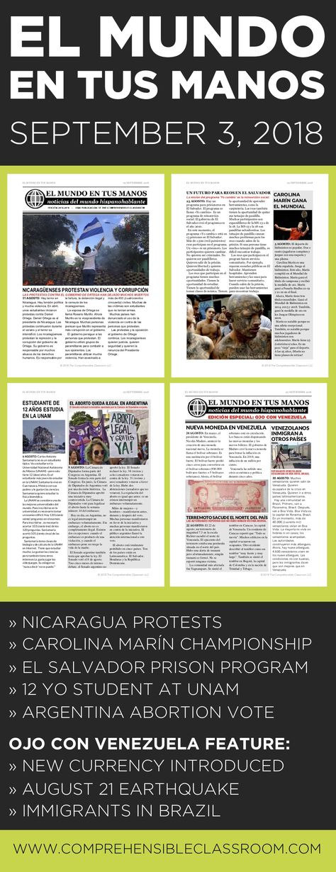 Current events & free fiction magazine in Spanish - The Comprehensible Classroom