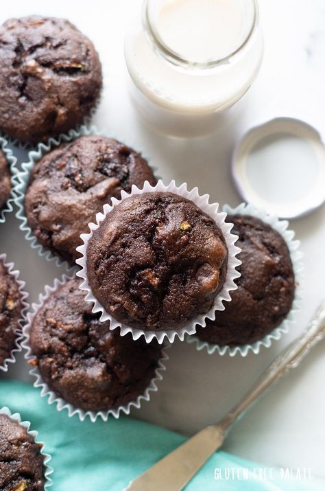 Photo of Paleo Chocolate Zucchini Muffins – Grain-Free Muffins!