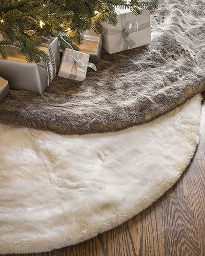 Brittany's Notebook: DIY: faux fur Christmas tree skirt | Diy ...