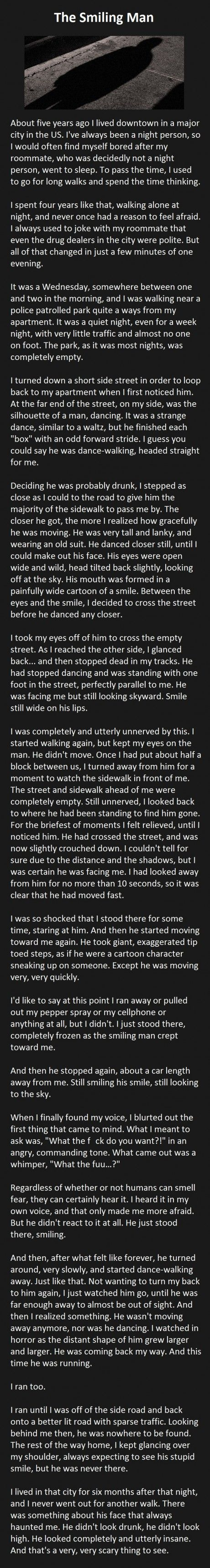 The Smiling Man, read this many times & it still creeps me out (shudder)